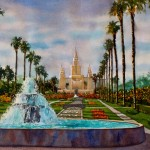 Oakland Temple Through Fountain