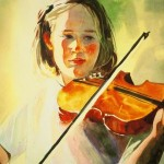 Kate on Violin
